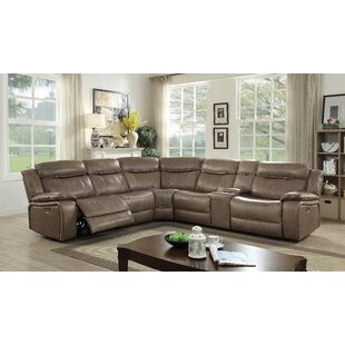 Shop Farwell Leather Sectional by Red Barrel Studio