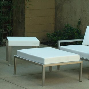Talt Ottoman with Cushion by Modern Outdoor