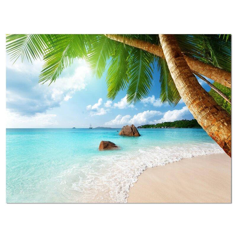 Seychelles Beach: Bay Isle Home 'Praslin Island Seychelles Beach' Photograph