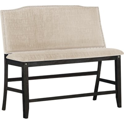 Dylan Counter Height Upholstered Bench Darby Home Co Upholstery Khaki