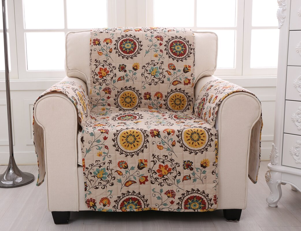 Andorra Quilted Box Cushion Armchair Slipcover