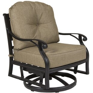 Gadson Castle Rock Swivel Glider Chair with Cushions (Set of 4)