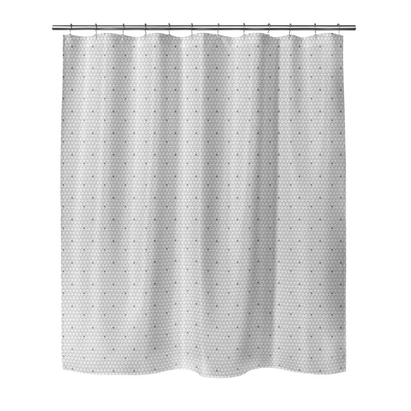 Brayden Studio South Venice Geometric Single Shower Curtain Wayfair
