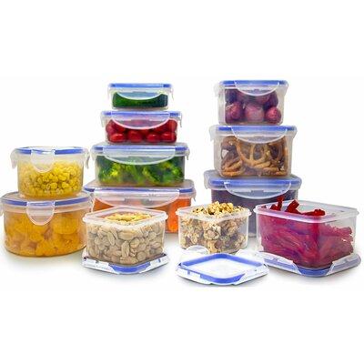 Rebrilliant PlasticMeal Prep SnapLock 12 Container Food Storage Set
