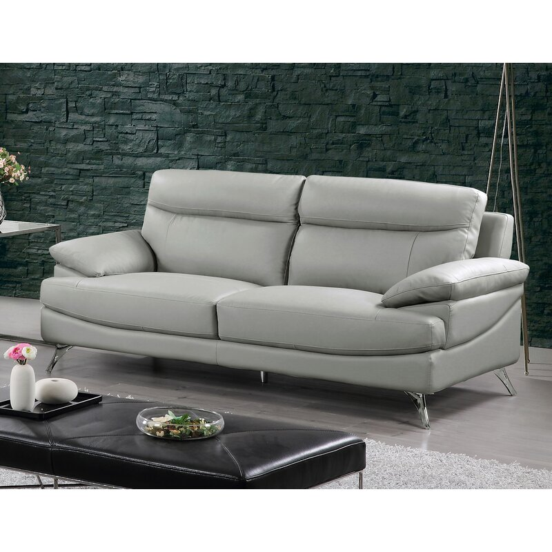Best Quality Furniture Leather Sofa & Reviews | Wayfair
