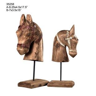 Colan Horse Decorative Bust Set Of 2