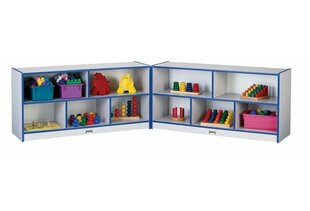 Price Check Rainbow Accents Folding 10 Compartment Cubby with Casters ByJonti-Craft