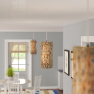 Roehampton 1-Light Cylinder Pendant by Beachcrest Home