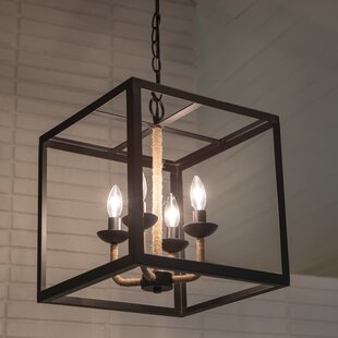 Peraza 4-Light Square Pendant by Breakwater Bay