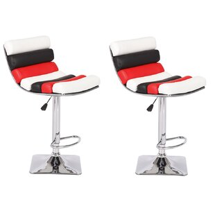 Jeannine Adjustable Height Swivel Bar Stool (Set of 2) Orren Ellis