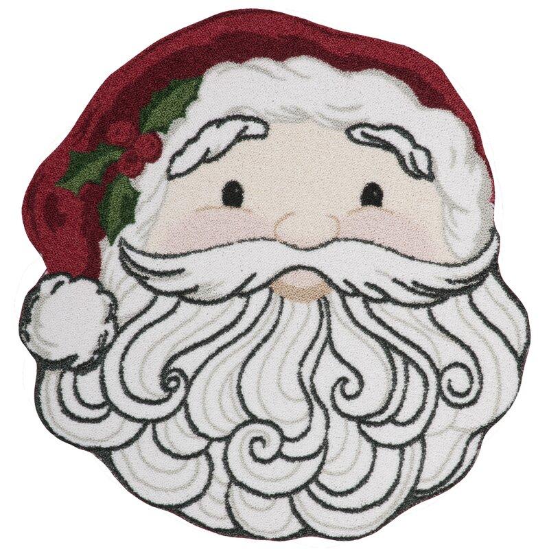 Kathy Ireland Home Gallery Christmas Santa Face Red White