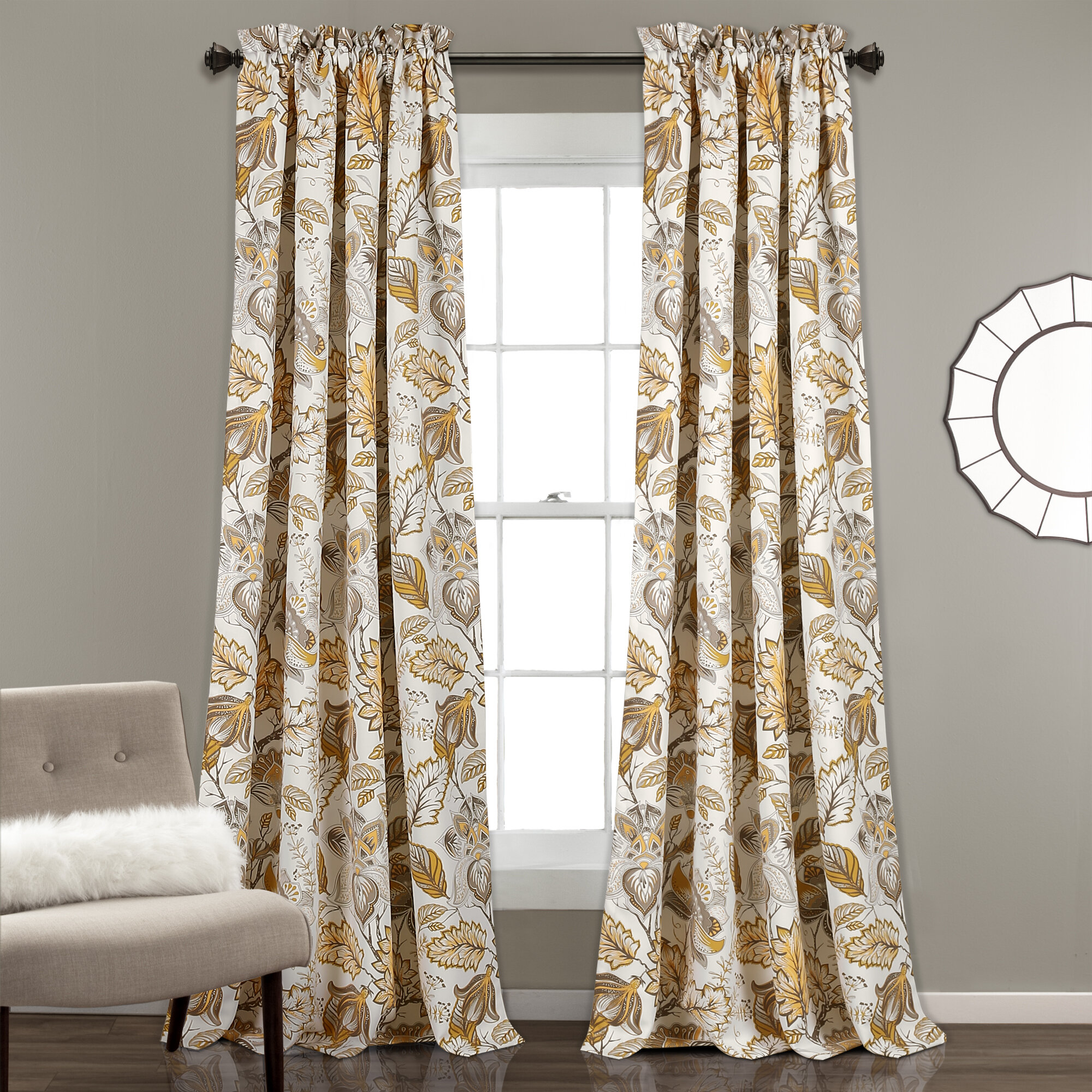 panels a sheer curtain kitchen with wide present panel floral vision waverly long drapes valances also extra door curtains better