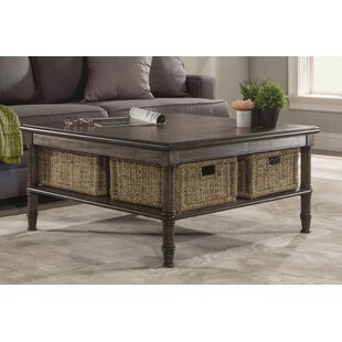 Holst Coffee Table With Baskets Highland Dunes