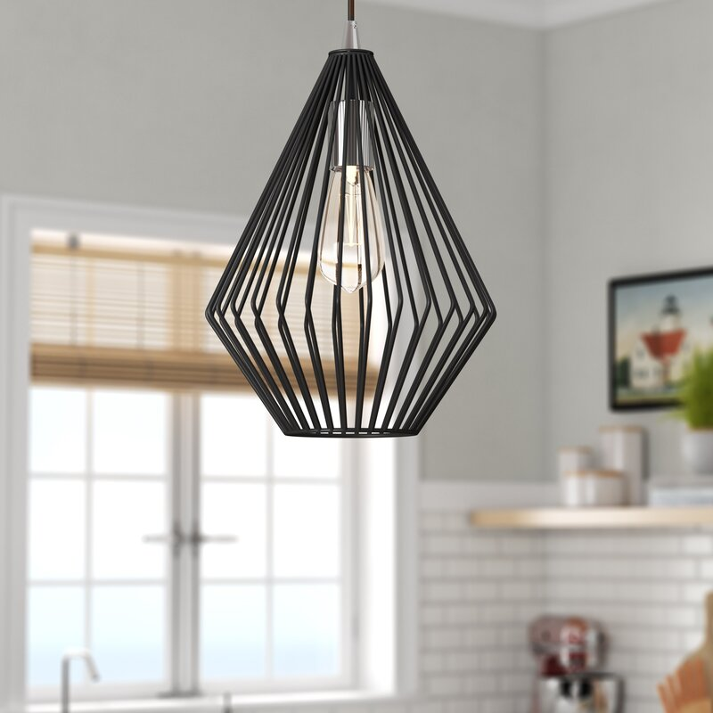 Williston Forge Maryjane 1 Light Single Geometric Pendant Reviews Wayfair Ca