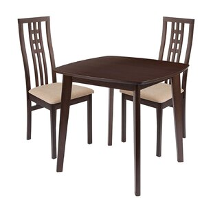 Skipworth 3 Piece Solid Wood Dining Set by Winston Porter
