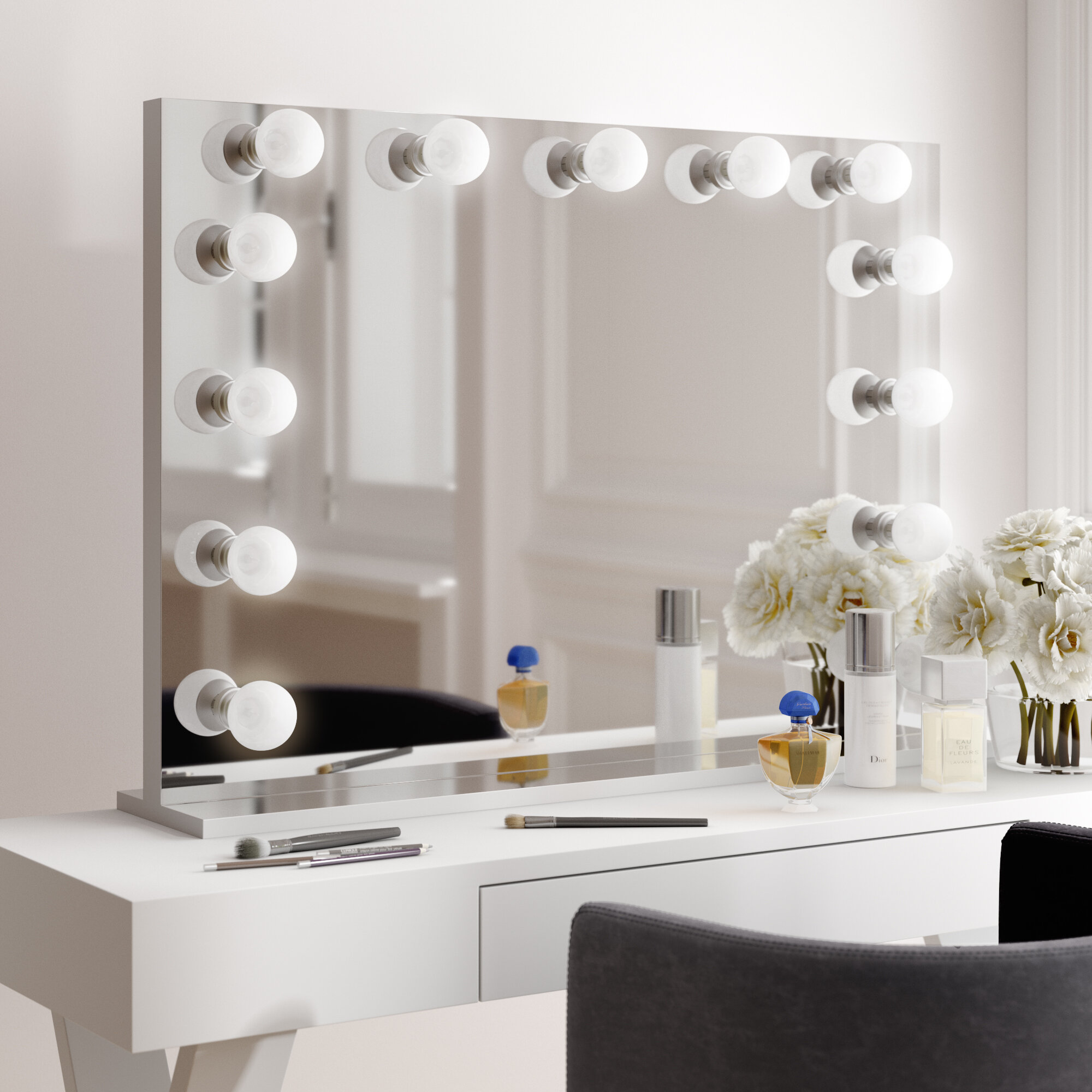 Picture of: Freestanding Makeup Shaving Mirrors You Ll Love In 2020 Wayfair