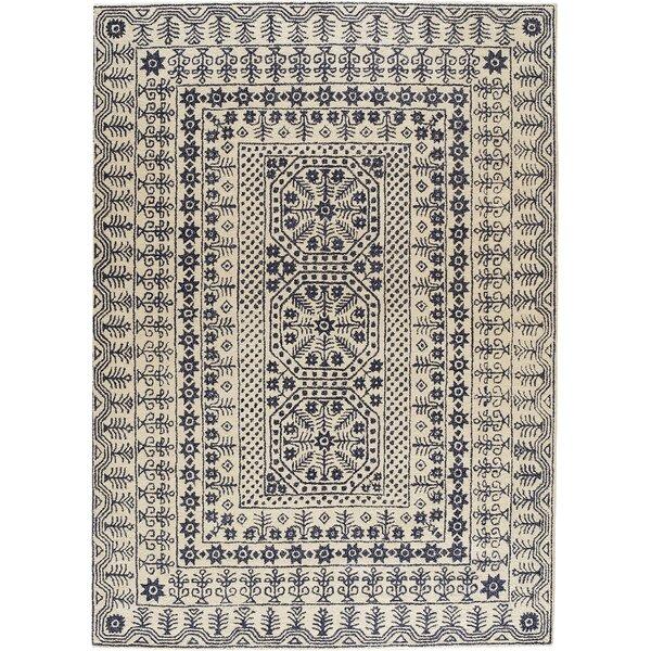 Tufted Wool Denim Khaki Area Rug