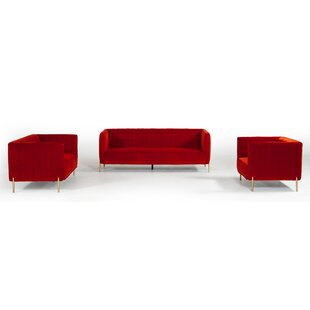 Joesph 3 Piece Standard Living Room Set by Everly Quinn