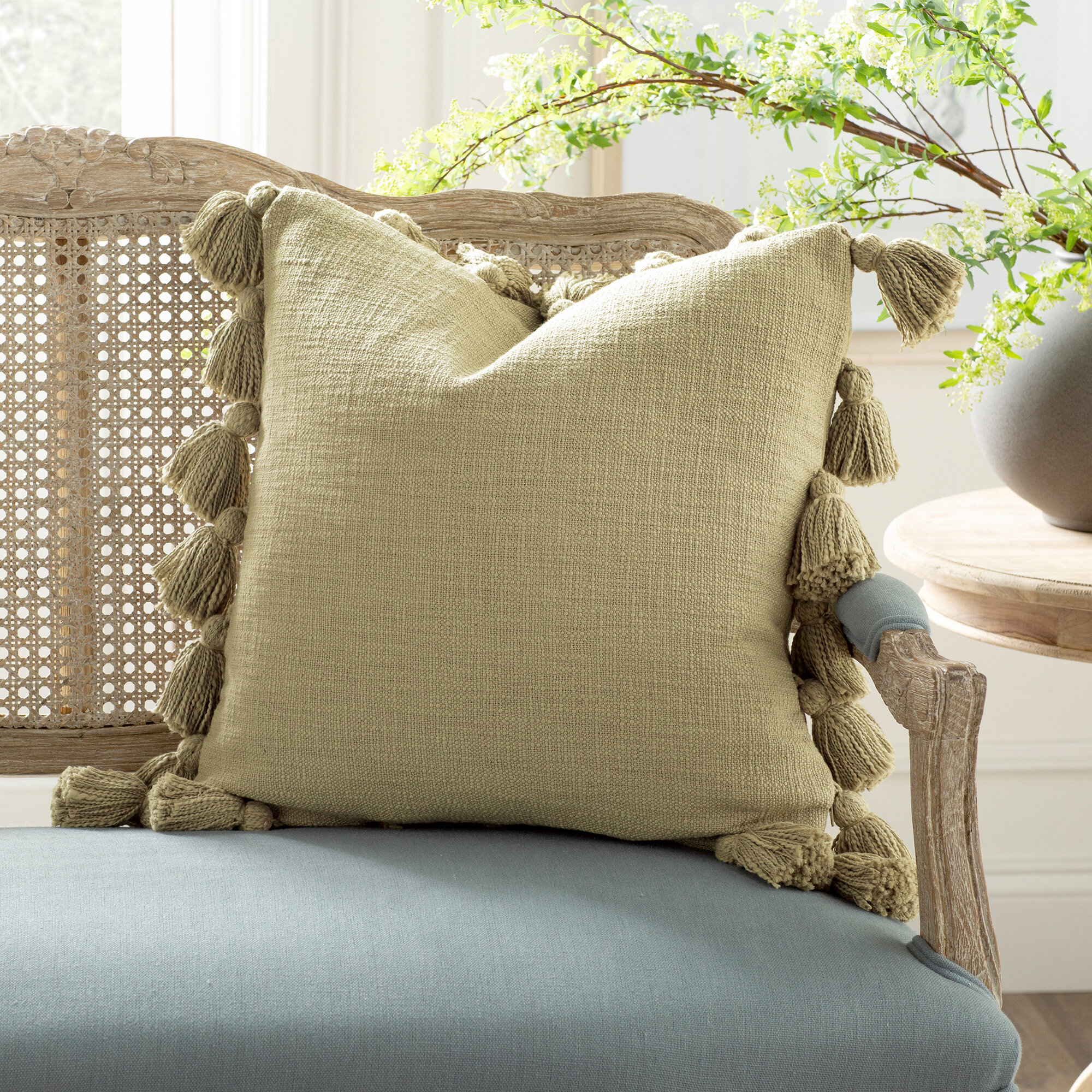 Kelly Clarkson Home Interlude Luxurious Square Cotton Pillow Cover And Insert Reviews Wayfair