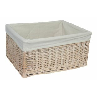 Lined Storage Wicker Basket By Brambly Cottage