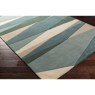 Dewald Hand Tufted Dark Green Area Rug