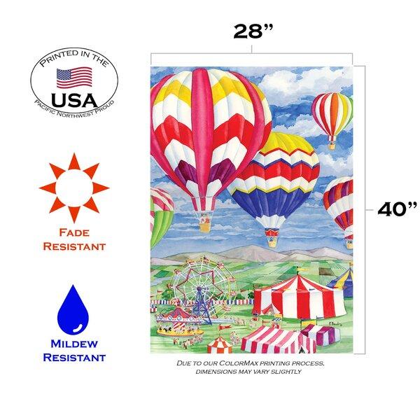 Toland Home Garden Fair Balloons 3 3 X 2 3 Ft House Flag Wayfair