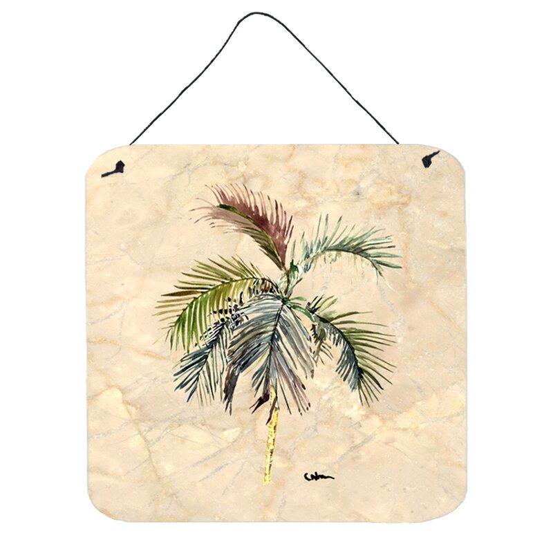 Caroline S Treasures Palm Tree Wall Art Plaque Wayfair