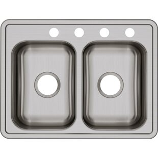 Dayton 25 L x 19 W Double Basin Top Mount Kitchen Sink