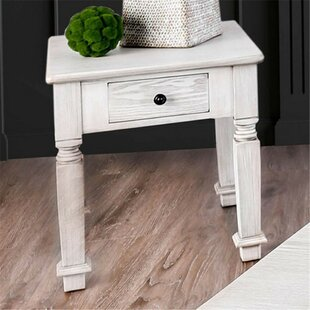 Christa End Table with Storage by One Allium Way