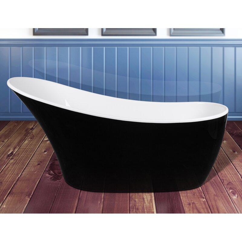 "63"" x 26"" Freestanding Soaking Bathtub"