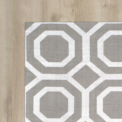 Columbus Circle Brook Hand Loomed Grey Silver Area Rug