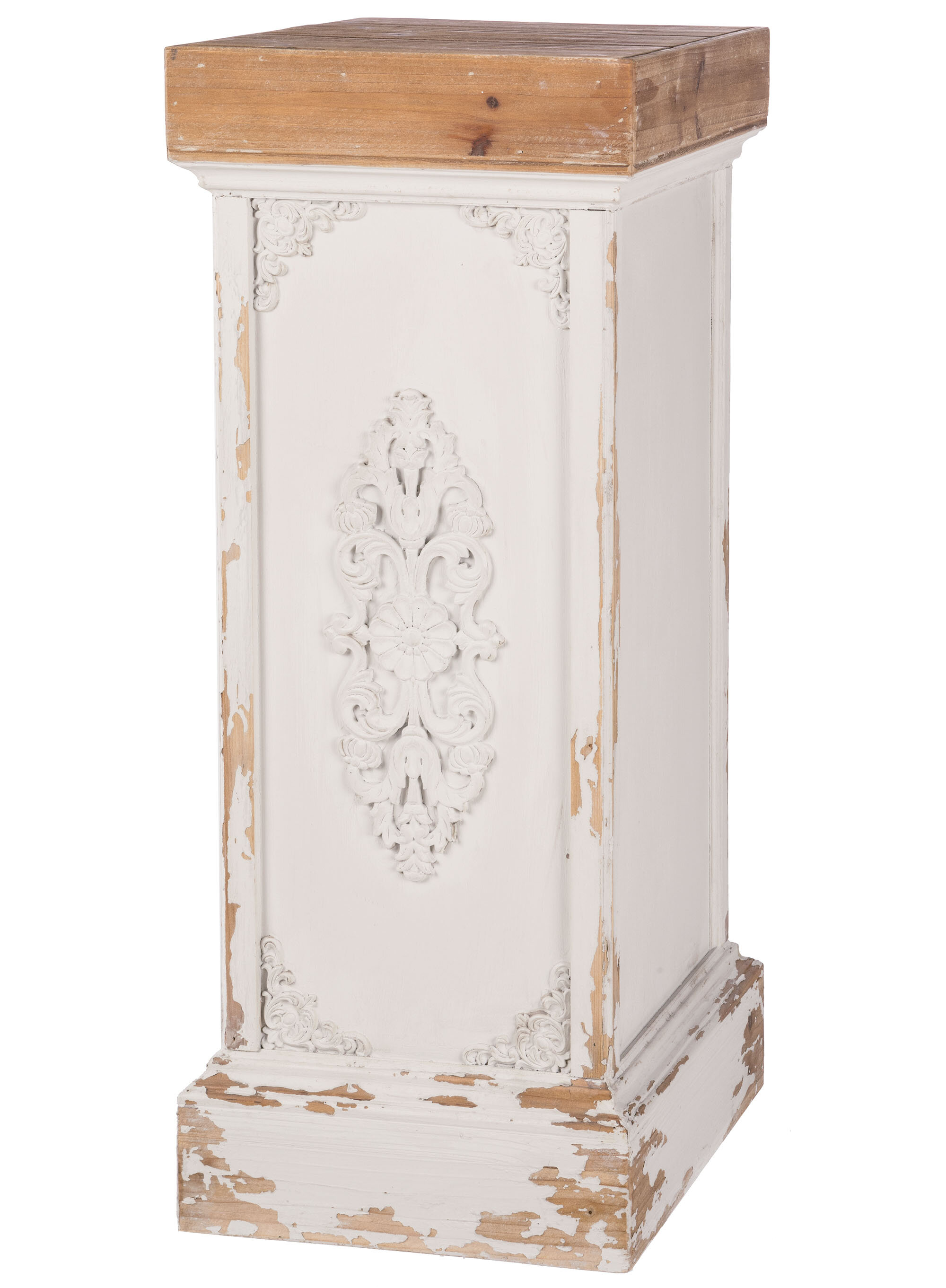 SQUARE FLOWER CORNERS WHITE DECORATIVE MOULDINGS FIREPLACE CUPBOARDS RESIN