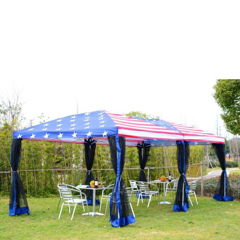 10 Ft W X 20 D Steel Pop Up Party Tent