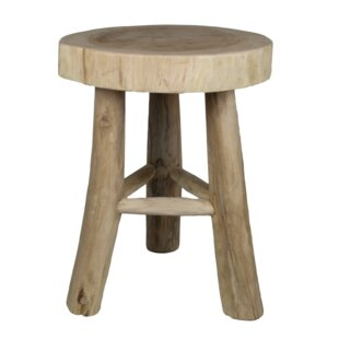 Yellow Pine Munggur Decorative Stool By Union Rustic