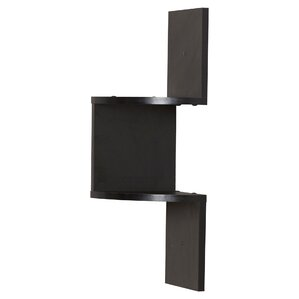 giedi corner wall shelf in black