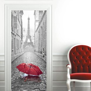 Eiffel Tower Umbrella Wall Decal