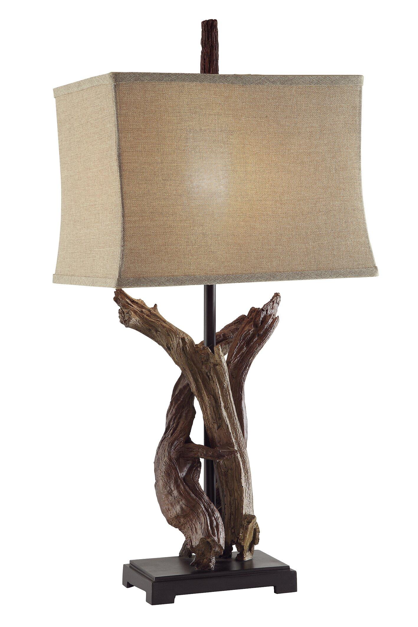 Loon Peak Cascade Chipita Park Twisted Drift Wood 33 Table Lamp