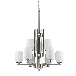 Winston Porter Vanfleet 9-Light Shaded Chandelier
