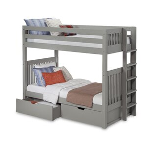 Read Reviews Oakwood Twin over Twin Bunk Bed with Drawer by Harriet Bee Reviews (2019) & Buyer's Guide