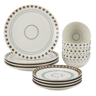 Cucina 12 Piece Stoneware Dinnerware Set, Service for 4