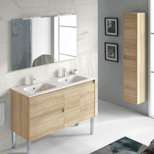 Ambra 48 Double Bathroom Vanity Set with Mirror