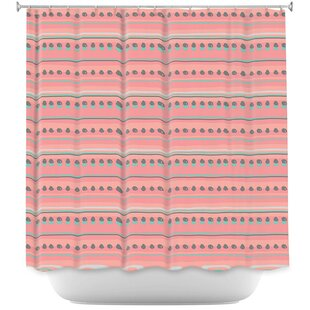 Dreamy Lines Single Shower Curtain