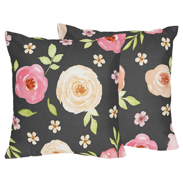 Watercolor Floral Pillow Wayfair