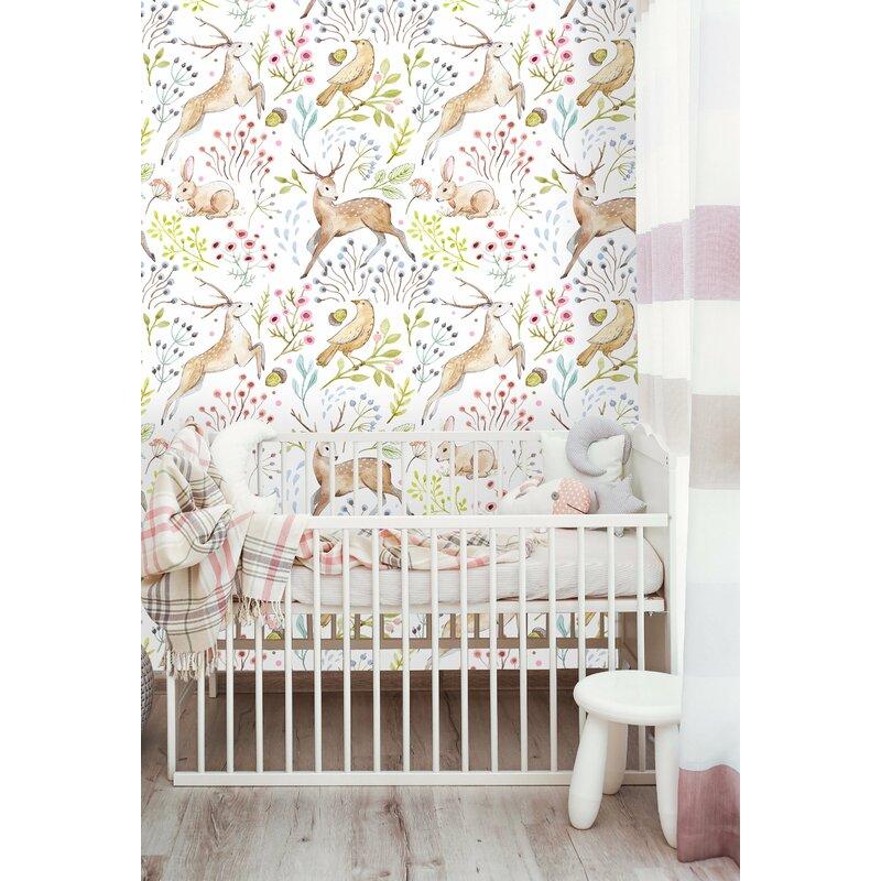 Woodland Animals Nursery Wallpaper
