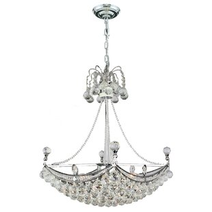 House of Hampton Carson 6-Light Crystal Chandelier