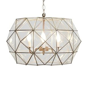 Worlds Away Faceted 3-Light Geometric Pendant