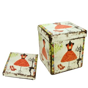 Dress and Fashion Storage Ottoman by Northlight Seasonal