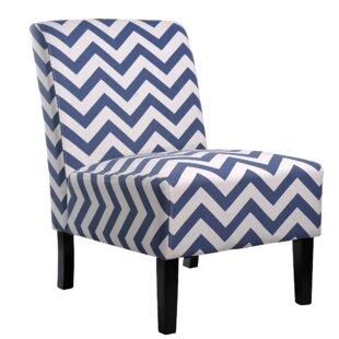 Blue Chevron Accent Chairs