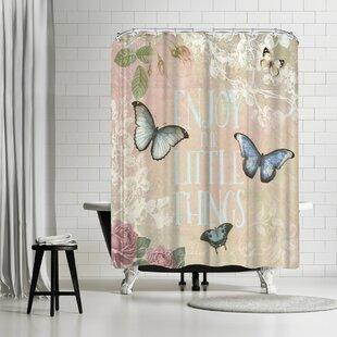 Lebens Art Butterfly Shower Curtain