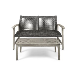 Cove Outdoor 2 Piece Sofa Seating Group with Cushions by Gracie Oaks